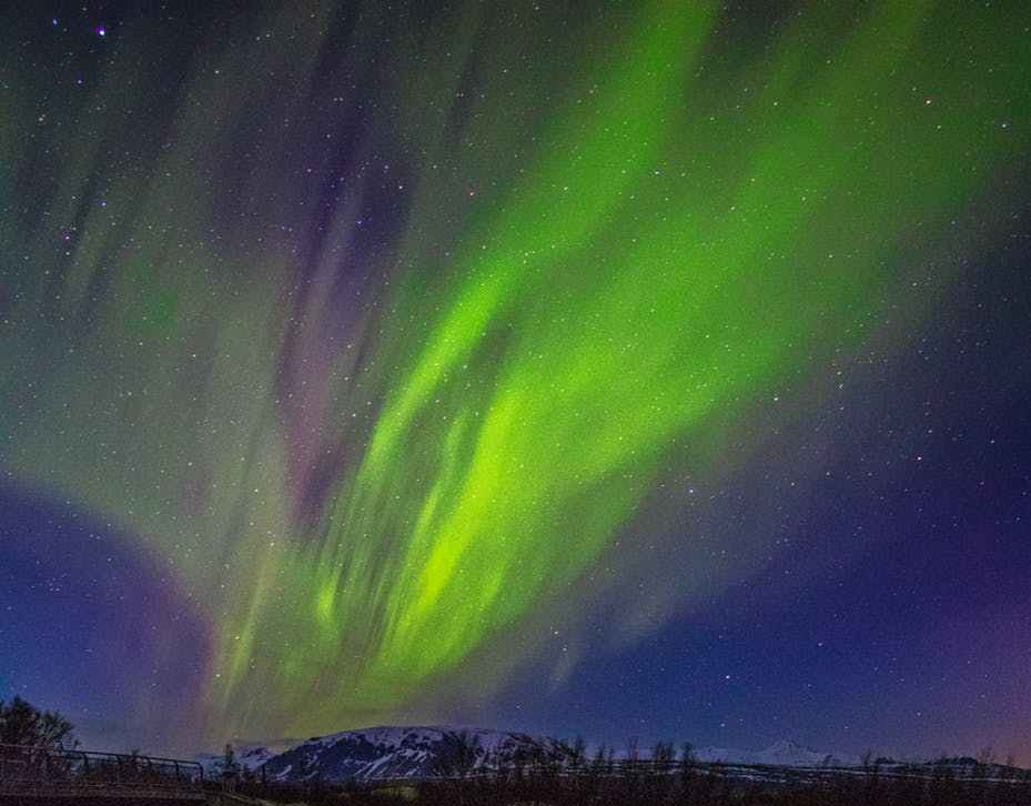 aurora during night