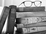 books stack old antique