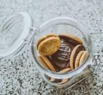 photo of chocolate cookies in jar