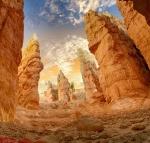 canyon cliff desert dry