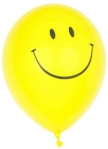 yellow smiley balloon with white background